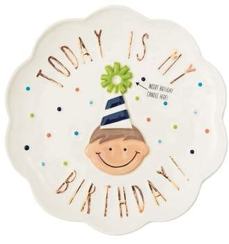 Birthday Boy Candle Plate