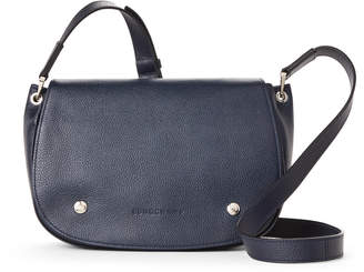 Longchamp Navy Le Foulonne Leather Saddle Bag