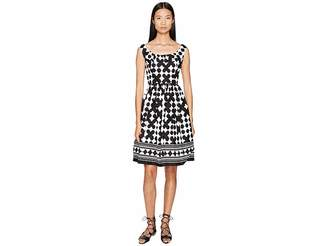 Kate Spade Spice Things Up Lantern Scoop Neck Dress Women's Dress