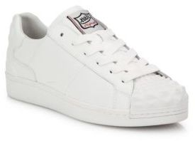Ash Crack Leather Sneakers $190 thestylecure.com