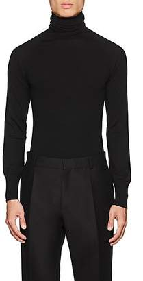 Martin Grant Men's Merino Wool Turtleneck Sweater - Black
