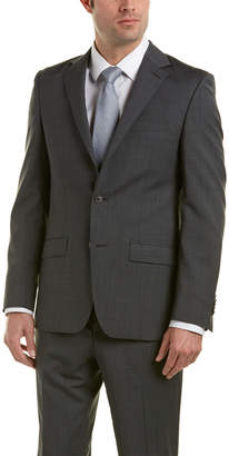 Ike Behar Wool Suit With Flat Front Pant