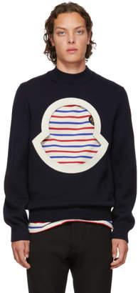 Moncler Genius 2 1952 Navy Wool Crewneck Sweater