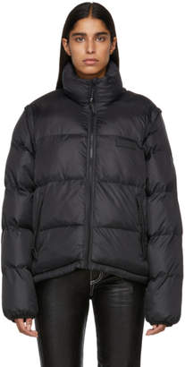 Perks And Mini Black Synthesis Puffer Jacket
