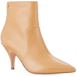 Tory Burch Georgina Mid-Heel Leather Booties