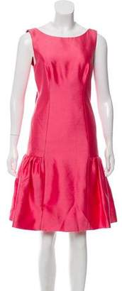 Milly Wool & Silk-Blend Bow-Back Dress w/ Tags