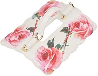 Dolce & Gabbana Floral Top Handle Flap