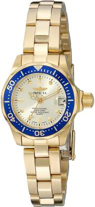 Invicta Women's 14126 Pro Diver Dial 18K Ion-Plated Stainless Steel Watch