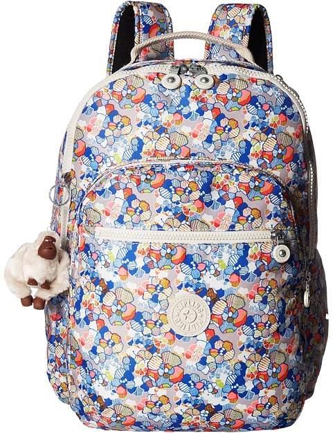Kipling Seoul Large Print Backpack Bags - FUNNY FIELD - STYLE