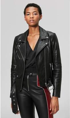 Veda Jayne Classic Leather Jacket Black