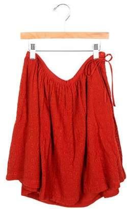 Preen by Thornton Bregazzi Preen Girls' A-Line Eyelet Skirt w/ Tags
