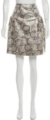 Burberry Silk-Blend Knee-Length Skirt