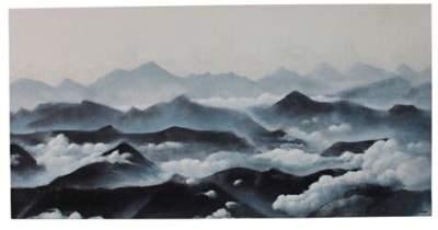 Ren-Wil Renwil® Fresno 30-Inch x 60-Inch Canvas Wall Art in Blue/White