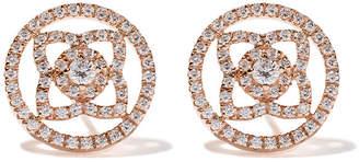 De Beers 18kt rose gold Enchanted Lotus openwork diamond stud earrings