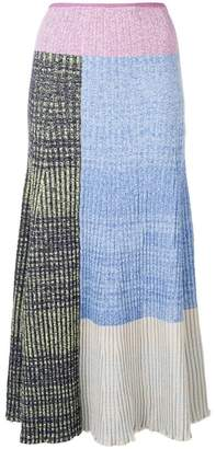 3.1 Phillip Lim contrast panels knitted skirt