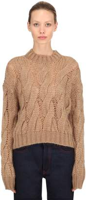 Prada Mohair Blend Knit Cropped Sweater