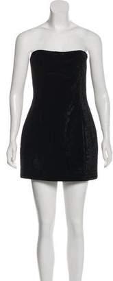 Balmain Velvet Strapless Mini Dress w/ Tags