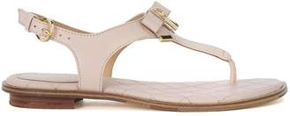 Michael Kors Alice Pink Leather Sandal With Bow And Pendant