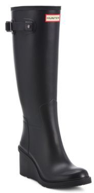 Original Refined Mid-Wedge Tall Rain Boots $205 thestylecure.com