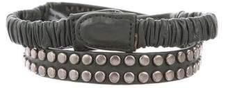 B-Low the Belt Leather Embellished Waist Belt