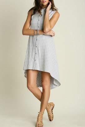 Umgee USA Button Shirt Dress