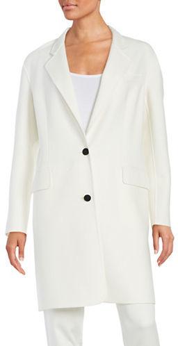 DKNYDkny Solid Cotton Blend Coat