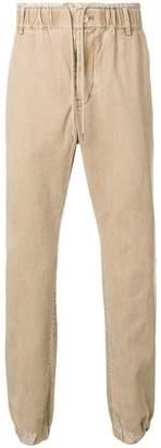 Sacai drawstring straight-leg trousers