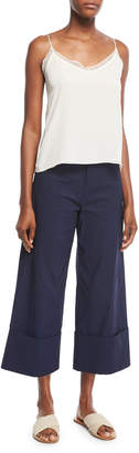 Sea Classic Cuffed Wide-Leg Pants