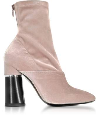3.1 Phillip Lim Kyoto Blush Velvet Stretch High Heel Ankle Boots