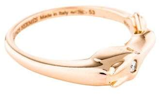 Hermes 18K Diamond Galop Ring