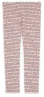 Fendi Little Girl's& Girl's Allover Heart Leggings