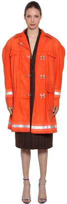 Calvin Klein Fireman Cotton Gabardine Coat