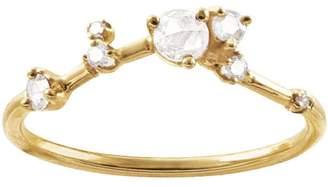 WWAKE Organic Rose Cut Diamond Triangle Ring