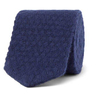 Ermenegildo Zegna 6cm Mélange Cashmere And Silk-Blend Knitted Tie
