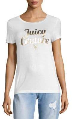 Juicy Couture Metallic Logo Short Sleeve T-Shirt