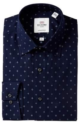 Ben Sherman Floral Clip Spot Tailored Slim Fit Dress Shirt