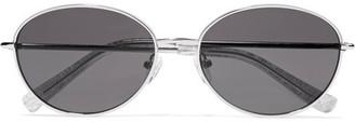 Elizabeth and James - Fenn Round-frame Silver-tone And Acetate Sunglasses $215 thestylecure.com