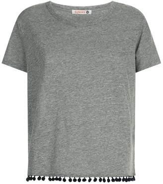Sundry Pom Pom Trim T-Shirt