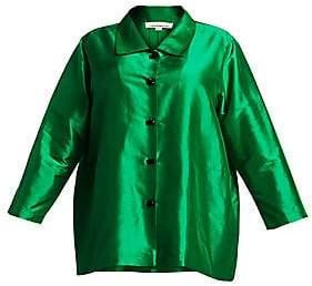 Caroline Rose Women's Shantung Silk Occasion Shirt