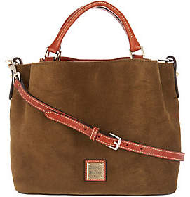 Dooney & Bourke Suede Small BrennaSatchel Handbag
