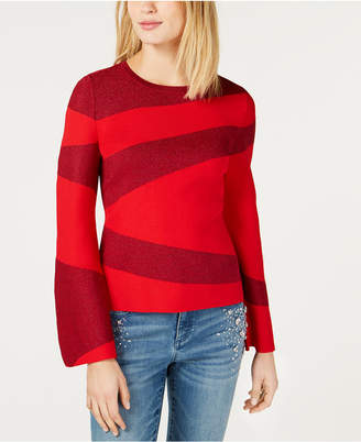 INC International Concepts I.N.C. Colorblocked Bell-Sleeve Sweater, Created for Macy's