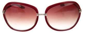 Barton Perreira Centerfold Oversize Sunglasses