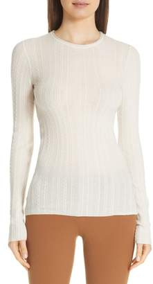 Theory Cable Knit Cashmere Sweater