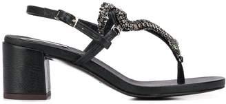 Emanuela Caruso embellished snake detail sandals