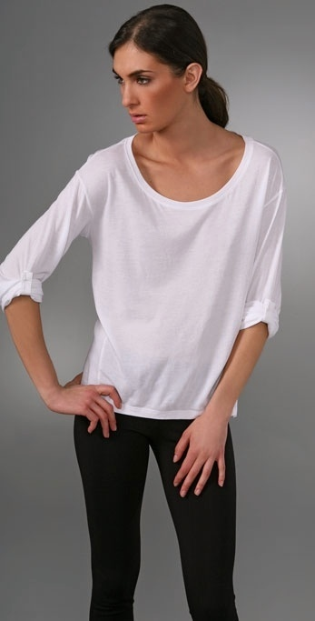 Vince Oversized Rolled Sleeve T-Shirt