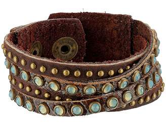 Leather Rock Carrie Bracelet