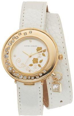 Laura Ashley Women's Crystal Wrap Watch $345 thestylecure.com