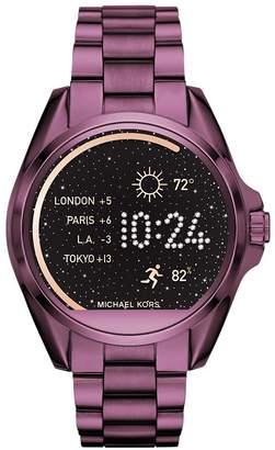 KORS Micheal Women's 'Bradshaw' Quartz Stainless Steel Casual Watch, Color Purple (Model: MKT5017)