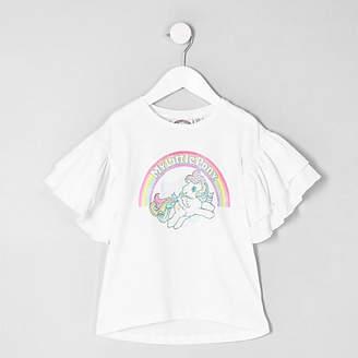 River Island Mini girls white 'My Little Pony' T-shirt