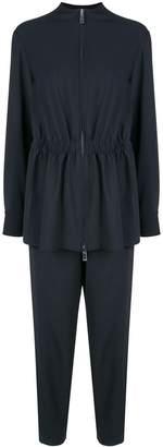 Tibi plain weave double layer jumpsuit